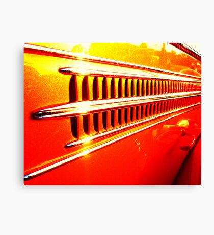 Orange Chrome Canvas Print