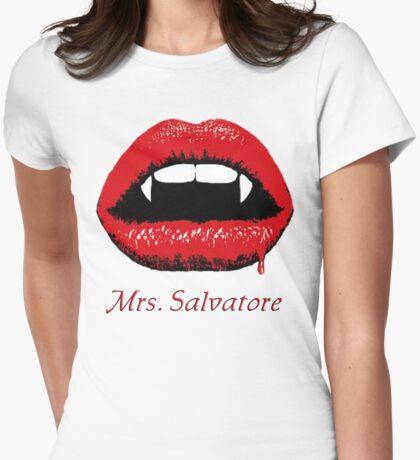 Mrs Salvatore Womens Fitted T-Shirt