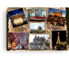 Viva Las Vegas Collage Canvas Print