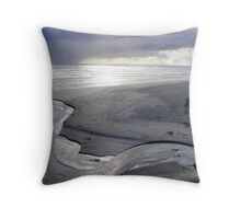 """Silver Serpent"" at Strahan's Ocean Beach Throw Pillow"