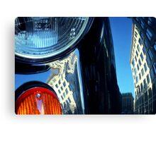 London Automobile reflection 1 Canvas Print