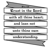 PROVERBS 3:5  - RIBBON BANNER by Matthew Scotland