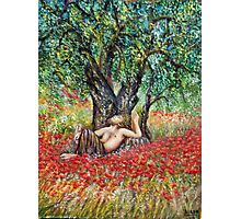 PAN, OLIVE TREE AND POPPY FIELDS Photographic Print