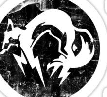 Foxhound V1 (Black) Sticker