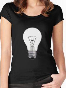 Light bulb Women's Fitted Scoop T-Shirt