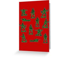 Plastic toy Soldiers. Greeting Card