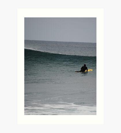 Surfing at Torquay  Art Print