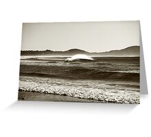 Winters Wave Greeting Card