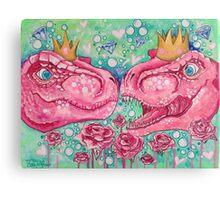 Glorified Trex Queens of Jurassic Dinos Canvas Print