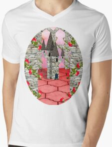 Toy towers and Roses Mens V-Neck T-Shirt