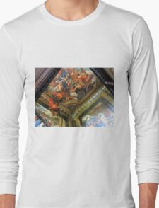 Hanbury Hall Staircase Murals and Ceiling Long Sleeve T-Shirt