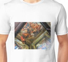 Hanbury Hall Staircase Murals and Ceiling Unisex T-Shirt