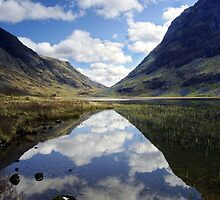 Reflections on a Scots Lake by Peter Doré