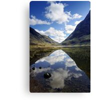 Reflections on a Scots Lake Canvas Print