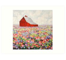 Hill Country Wildflowers Art Print