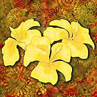 Tatoo Mandala Hibiscus - Tangerine Dream by DreaMground