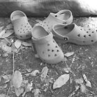 Camping Shoes and a Tent 2 by Amos White