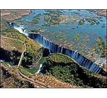 Victoria Falls and Batoka Gorge Photographic Print