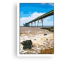 The pier at Clevedon by Tim Constable Canvas Print