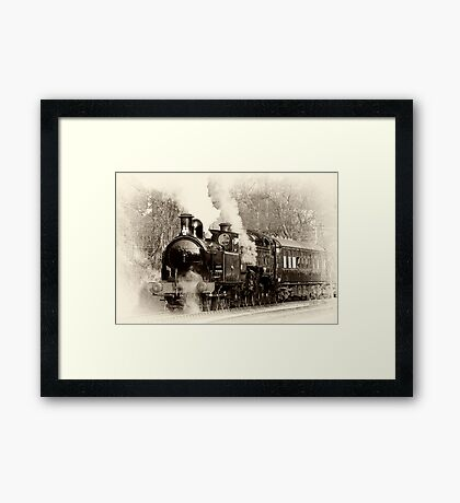 Vintage Steam Framed Print