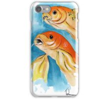 Orange Butterfly Koi iPhone Case/Skin