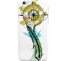 Watercolour Compass and Feather iPhone Case/Skin