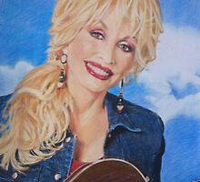 Dolly Parton fan art by Marina Coffey