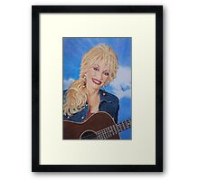 Dolly Parton fan art Framed Print