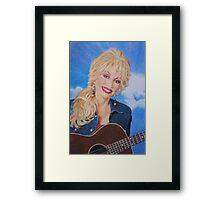 Dolly Parton fan art Framed Print