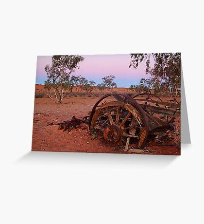Cart Ruin, Old Andado Station, Outback Australia Greeting Card