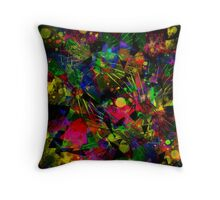 Spiky Psychedelic  Throw Pillow