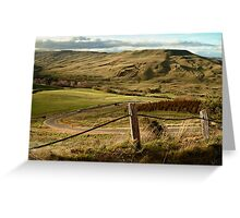 Valley Road Rowsley Greeting Card