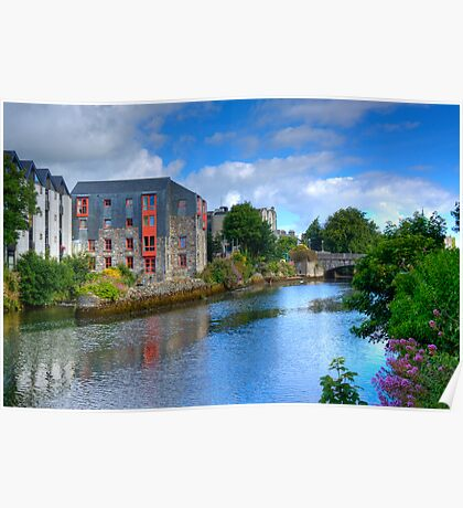 The Canal - Galway, Ireland Poster