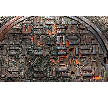 New York City sewer cap in HDR. Photographic Print