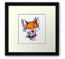 ''Cute'' Foxy Framed Print