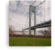 Verrazano Narrows Bridge viewed from Fort Wadsworth on Staten Island. Canvas Print