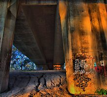 Under the bridge by John Vandeven