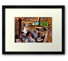 Retired old Chev Framed Print