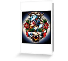 Navy Pinup Greeting Card