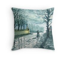 Church Lane, Sewerby by Moonlight Throw Pillow