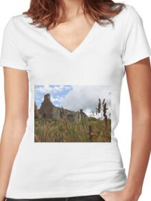 Homeland Creeslough -Donegal Ireland  Women's Fitted V-Neck T-Shirt