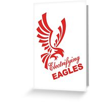 Electrifying Eagles Greeting Card