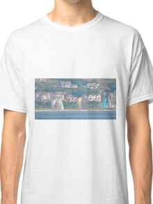 Boats in Water Colour  - Donegal - Buncrana Ireland Classic T-Shirt