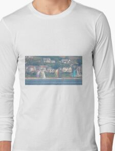 Boats in Water Colour  - Donegal - Buncrana Ireland Long Sleeve T-Shirt