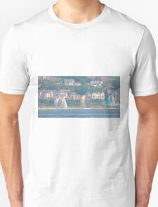 Boats in Water Colour  - Donegal - Buncrana Ireland T-Shirt