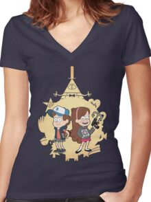 Ask-MysteryTwins Women's Fitted V-Neck T-Shirt