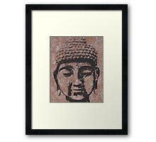 Buddha in Browns/Black Framed Print