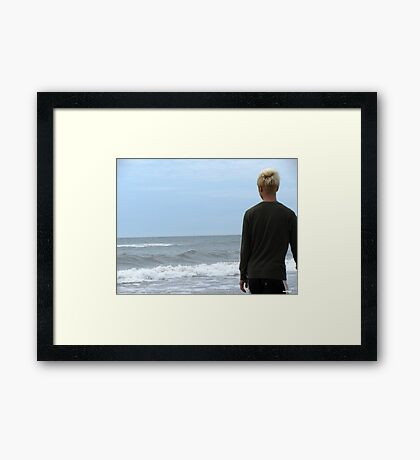 Blond Hair Framed Print