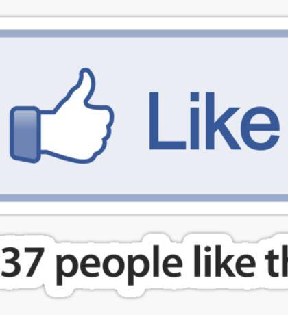 """Like Button """"1337 Popular"""" T-Shirt Sticker"""