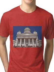 Helsinki Town Hall- Finland Tri-blend T-Shirt